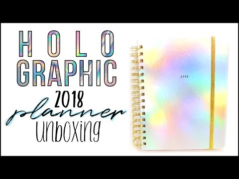 medium HOLOGRAPHIC Bando Agenda 2017-2018 UNBOXING!