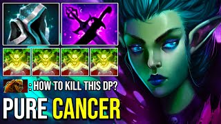 100 PURE CANCER Death Prophet Unkillable Solo Mid Deleted ALL with Most Annoying Exorcism Dota 2