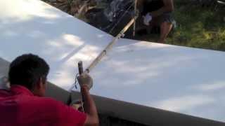 Резка ПСБ для моей УШП - как резать пенопласт(ПСБ (пенопласт) режется с помощью горячей проволоки, далее из ПСБ сооружается несъемная опалубка и основани..., 2013-06-23T20:00:57.000Z)