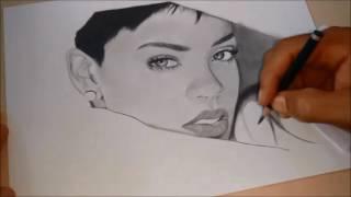 israel llima desenhando - Drawing Rihanna