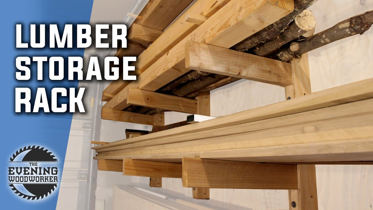 build a simple lumber storage rack woodworking