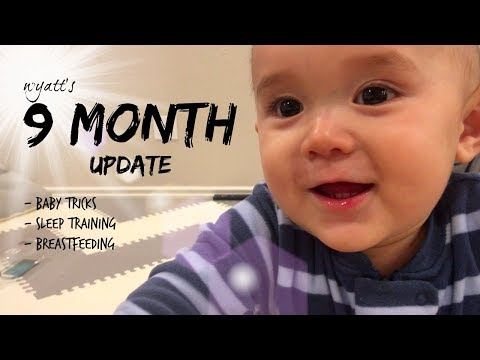 Adorable Baby 9 MONTH update | sleep training + breastfeeding