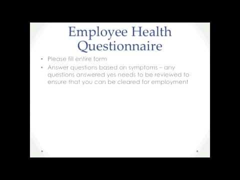 Employee Health Questionnaire