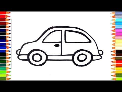 Рисование машины мультфильм