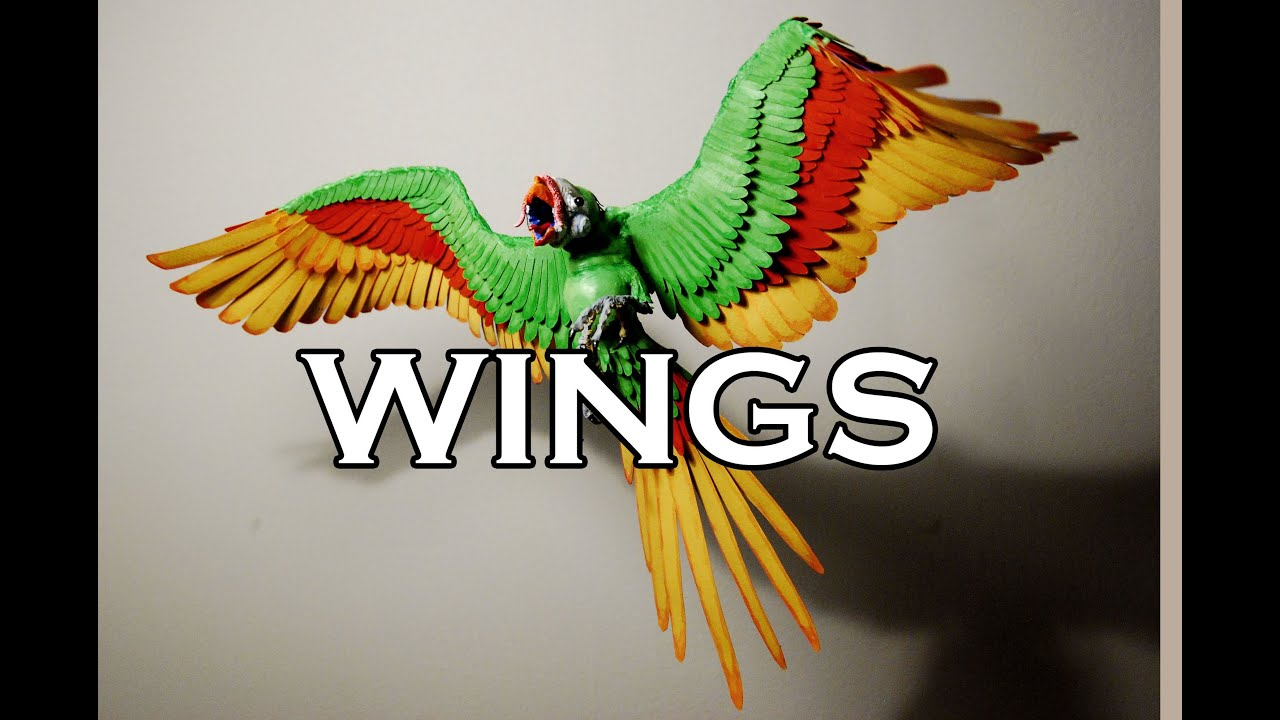 Paper Bird Sculpture How To Make Fabulous Wings Sculpture Tutorial Youtube