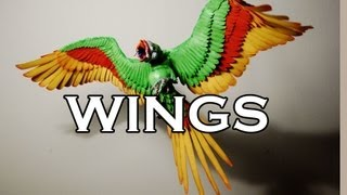 How to make FABULOUS WINGS! Sculpture tutorial.