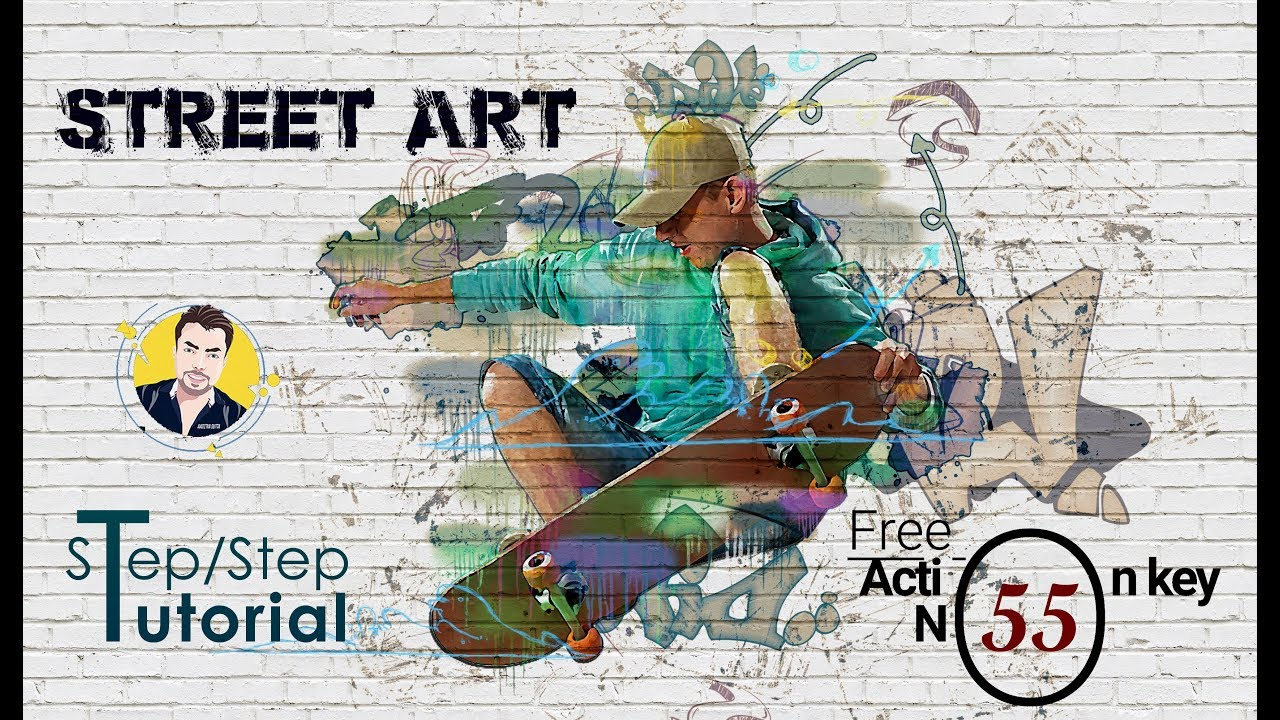 Street art photoshop effect tutorial free action key