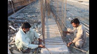 Bridge Girder Reinforcement Details on Construction site