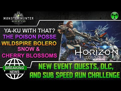 Monster Hunter World 🏹 New Event Quests, DLC Quest, and Subscriber Speed Run Challenge