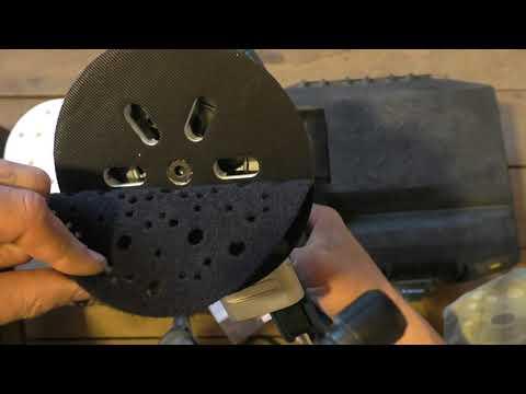 эксцентриковая шлифмашина GEX 150 AC и защитная прокладка MIRKA