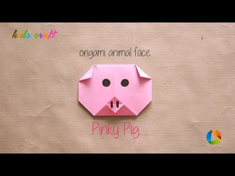 DIY: Origami Animal Faces - Pig | Kids Craft