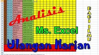Tutorial Excel : Analisis Ulangan harian