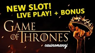 **NEW SLOT** - GAME OF THRONES SLOT - LIVE PLAY + BONUS FEATURES! - Slot Machine Bonus(++Please subscribe :-) http://www.youtube.com/subscription_c... Game of Thrones Slot - LIVE PLAY + BONUS FEATURES - SLOT MACHINE BONUS! The Game ..., 2016-02-16T13:00:02.000Z)