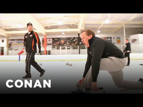 Andy Joins A Curling Team