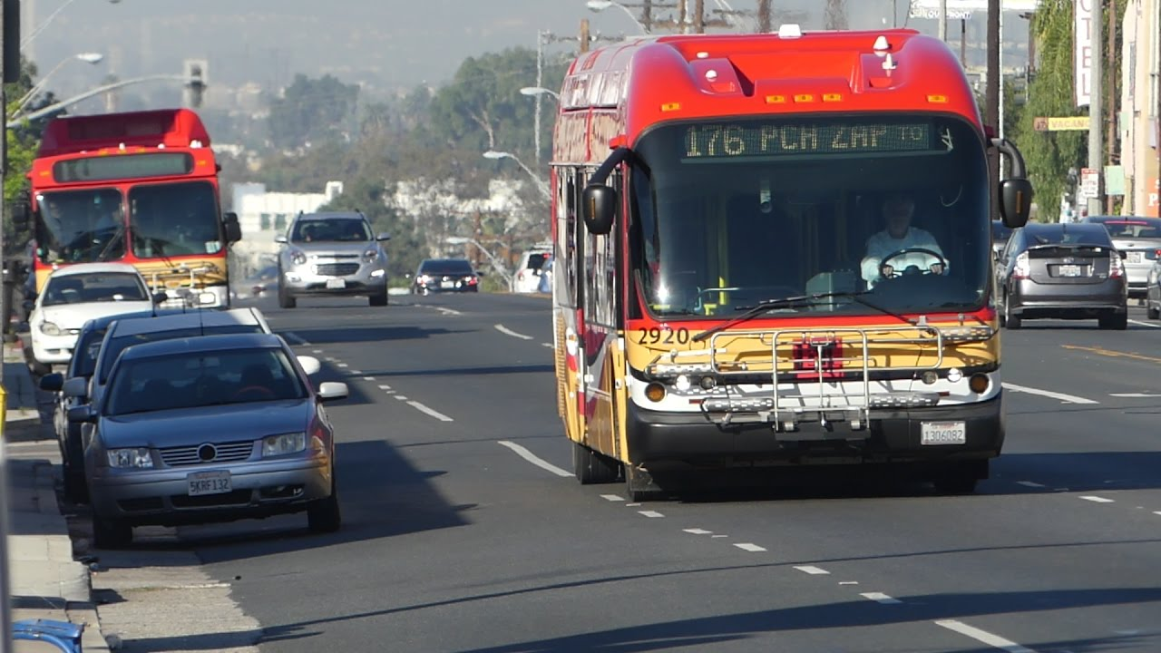 Long Beach Transit New Flyers Ge40lfa Ge40lf D40lf Routes