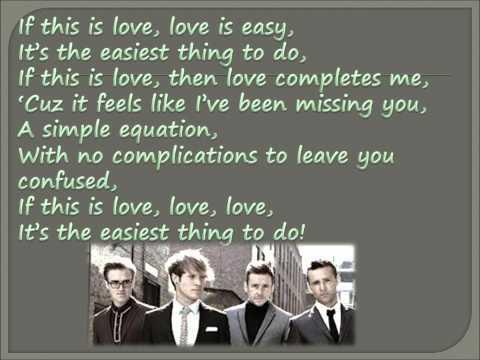 Love Is Easy - Mcfly Lyrics