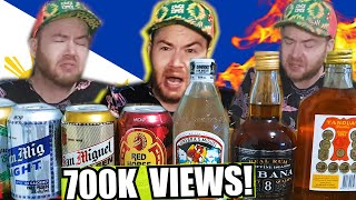 Trying ALL the Filipino beers and alcohol! This gin is FIRE! + Jollibee chickenjoy mukbang
