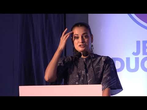 Bollywood Actors Dia Mirza Attend Asia's Biggest Education Conclave Hosted by JBCN