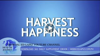 Ed Lapiz - HARVEST HAPPINESS /Latest Sermon Review New Video (Official Channel 2020)