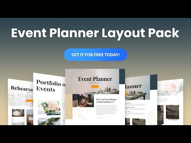 Get a FREE Event Planner Layout Pack for Divi