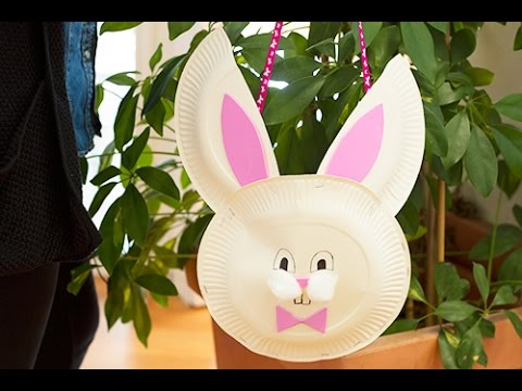 bricolage de p ques diy panier lapin pour la chasse aux oeufs youtube. Black Bedroom Furniture Sets. Home Design Ideas