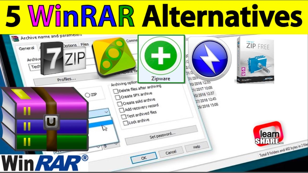 Best WinRAR Free File Compression Software