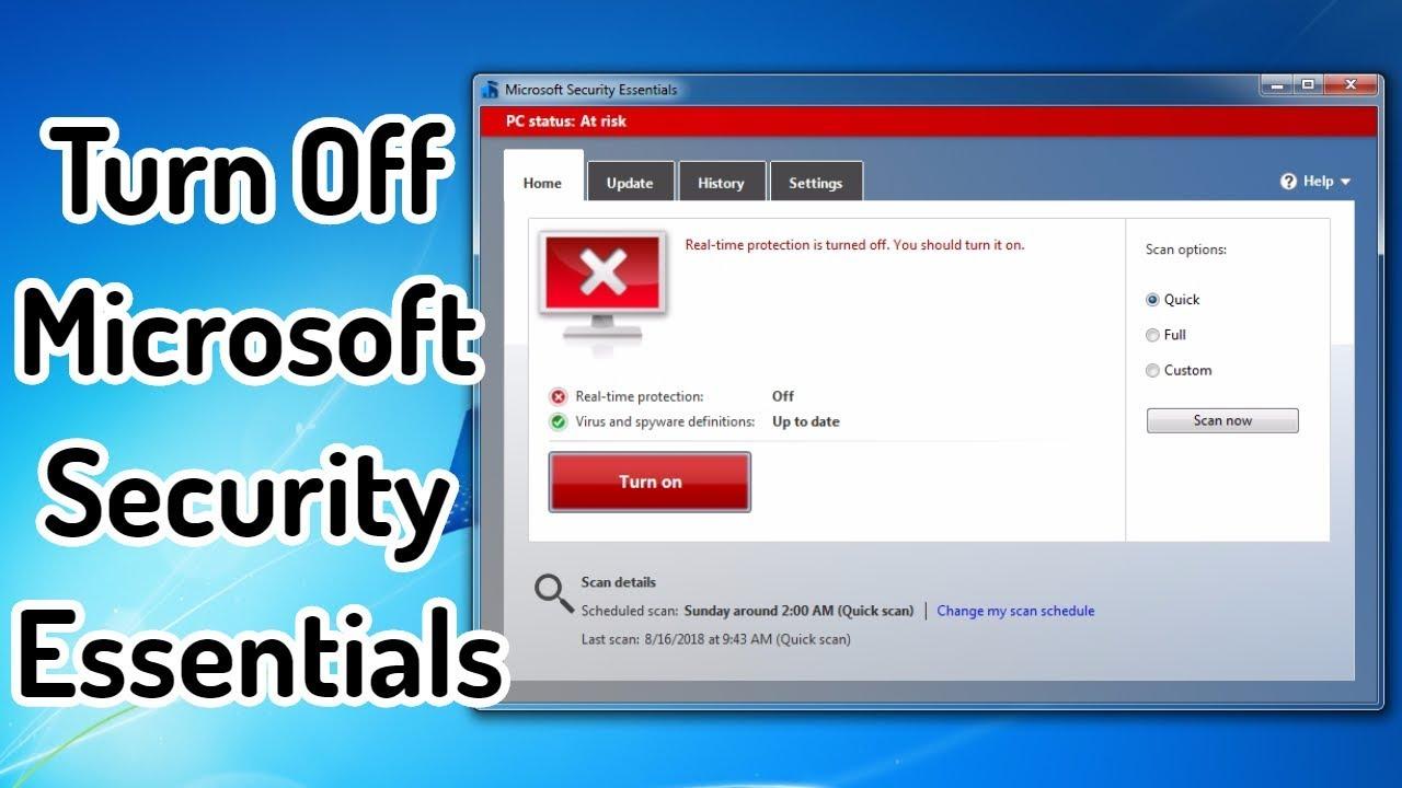 antivirus windows 7 microsoft