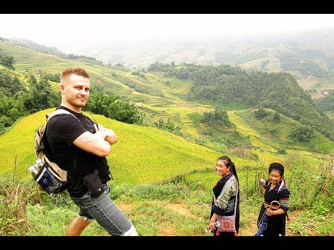 Hiking through Sapa Valley Vietnam to see the Rice Paddies & Local Villages