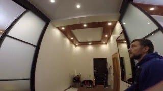 Двухуровневые натяжной потолок с острыми углами(Глянцевые двухуровневые потолки в Сочи., 2015-12-05T20:42:57.000Z)