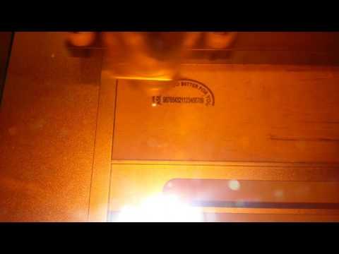 Laser engraving sample.