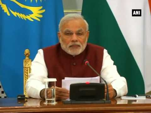 PM Narendra Modi and Kazakhstan President Nursultan Nazarbayev give joint statement in Astana (P-3)