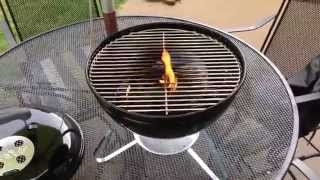 How to Season a Grill - Weber Smokey Joe Silver