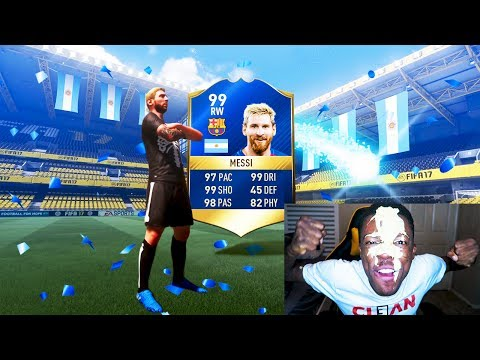 OMG 99 TOTS MESSI IN A PACK !!! FIFA 17 PACK OPENING