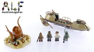Lego Star Wars 75174 Desert Skiff Escape - Lego Speed Build Review