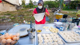 Street Food EGG ROTI!! Market Eating Tour in Southeast Asia! | Ranong, Thailand