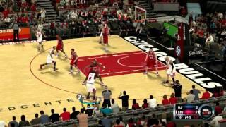 Nba 2k12 pc gameplay Bulls vs Nets