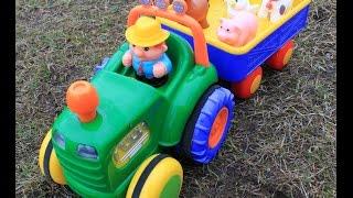 Мультики для самых маленьких, Домашние животные, Веселый трактор, Развивающие мультики
