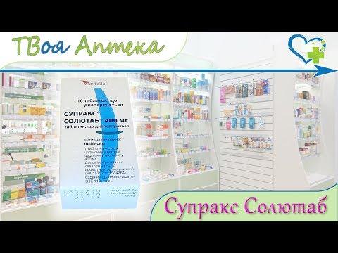 Супракс Солютаб таблетки ☛ показания (видео инструкция) описание ✍ отзывы ☺️