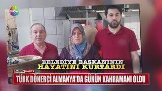 Türk Dönerci Almanya'da günün kahramanı oldu