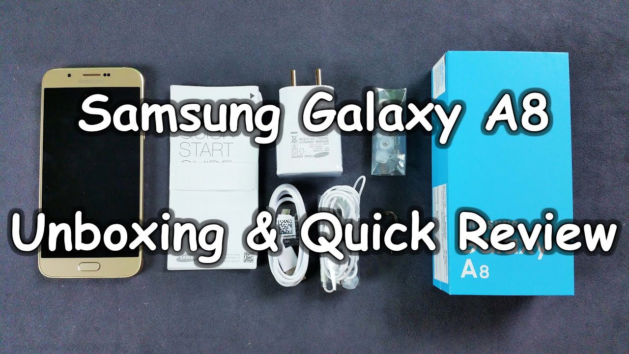 Samsung Galaxy A8 Duos Unboxing Quick Review