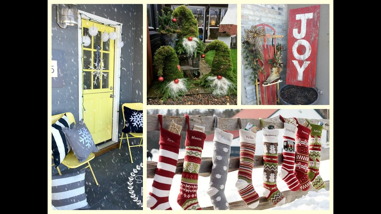 christmas outdoor decorating ideas winter porch decorating ideas youtube - Joy Outdoor Christmas Decoration