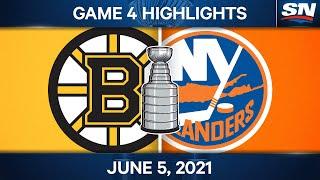 NHL Game Highlights   Bruins vs. Islanders, Game 4 - June 5, 2021