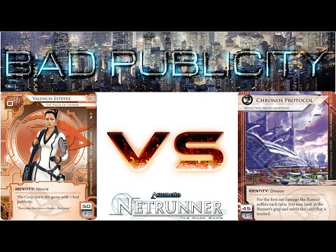 Let's Play Netrunner - Decklist of the Week d1en's Val's Pals vs Chronos Protocol