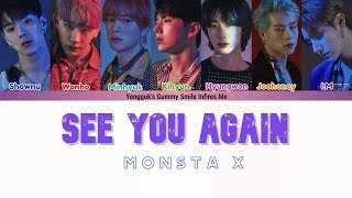 Gambar cover MONSTA X (몬스타엑스) - SEE YOU AGAIN [Follow: Find You] COLOR CODED LYRICS (HAN|ROM|ENG)