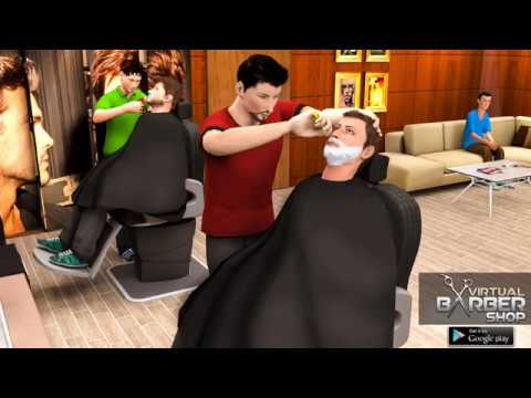 Virtual Barber Shop Hair Salon Beard Shave Game