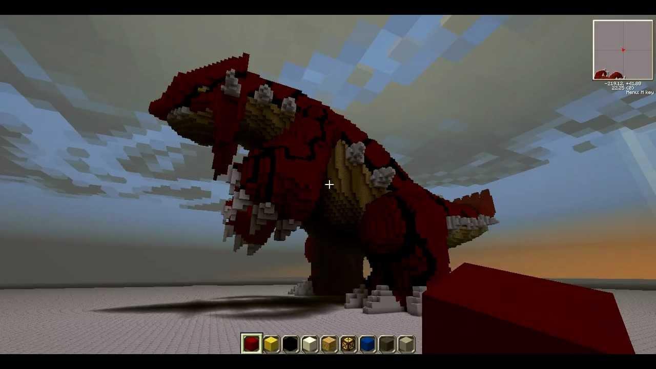 Minecraft 3d Art Of Groudon Youtube