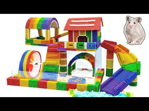 DIY - Build Amazing Hamster House With Magnetic Balls (Satisfying) - Magnet Balls