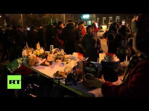 Ukraine: 'Financial Maidan' bed-in outside National Bank