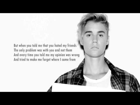 Justin Bieber - Love Yourself (Instrumental Remake) with lyrics +download