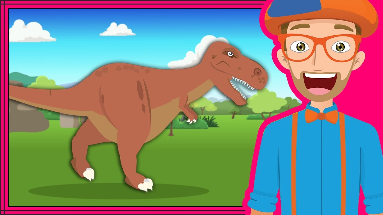 the dinosaur song by blippi dinosaurs cartoons for children youtube